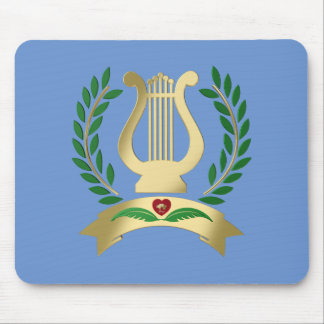 Golden lyre mouse pad