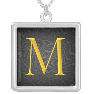 Golden M Monogram Custom Jewelry