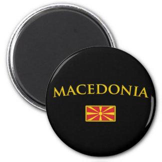 Golden Macedonia 2 Inch Round Magnet