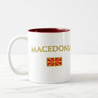 Golden Macedonia Two-Tone Coffee Mug
