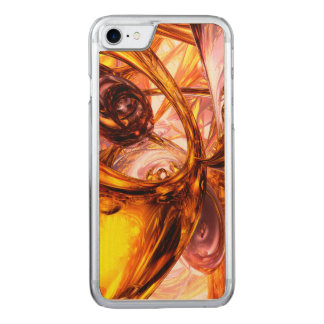 Golden Maelstrom Abstract Carved iPhone 8/7 Case