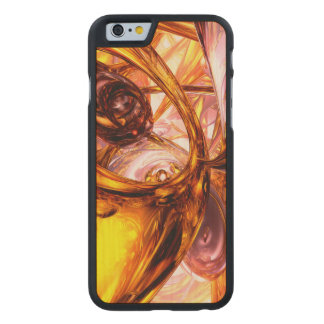 Golden Maelstrom Abstract Carved® Maple iPhone 6 Slim Case