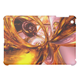 Golden Maelstrom Abstract  Case For The iPad Mini
