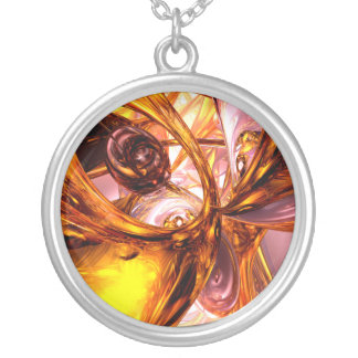 Golden Maelstrom Abstract Necklace