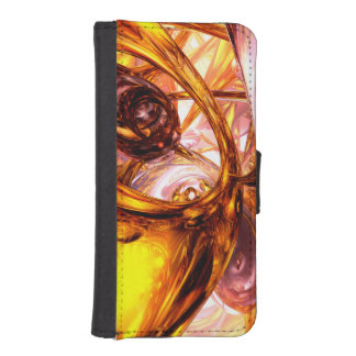 Golden Maelstrom Abstract Phone Wallets