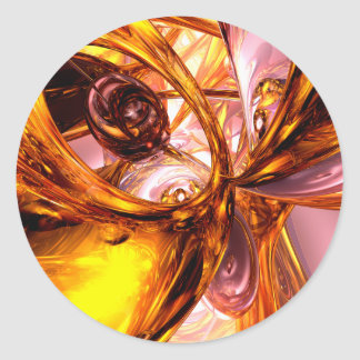 Golden Maelstrom Abstract Sticker