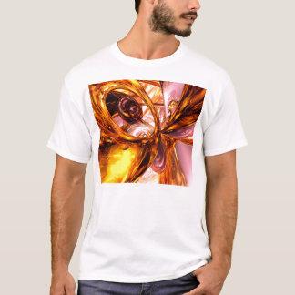 Golden Maelstrom Abstract T-Shirt