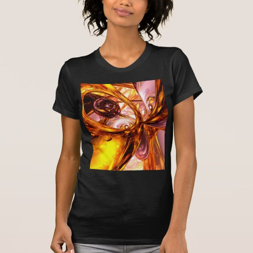 Golden Maelstrom Abstract T-shirts