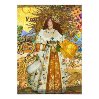 Golden Maiden Leo Renaissance Vintage Sun Princess Card
