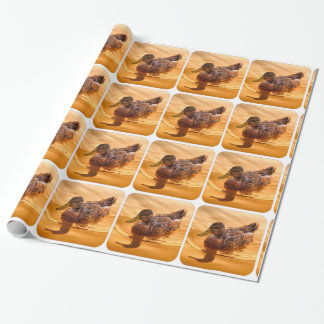 Golden Mallard Reflections All Occasion Paper Wrapping Paper