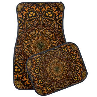 Golden Mandala Car Floor Mat