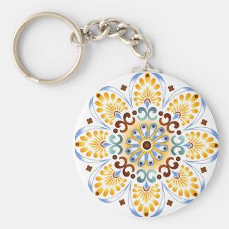 Golden Mandala Keychain