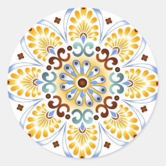 Golden Mandala Round Sticker