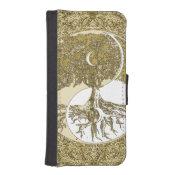 Golden Mandala Yin Yang iPhone SE/5/5s Wallet Case (<em>$23.20</em>)