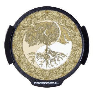 Golden Mandala Yin Yang LED Window Decal