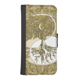Golden Mandala Yin Yang Phone Wallet