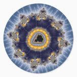Golden Mandelbrot - Fractal Classic Round Sticker