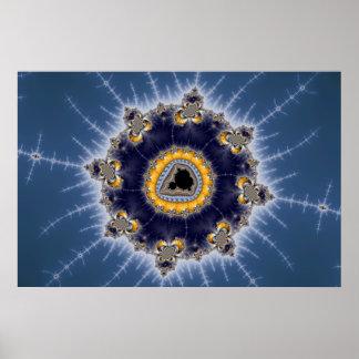 Golden Mandelbrot - Fractal Poster