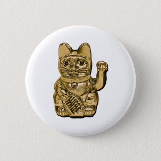 Golden Maneki Neko Button