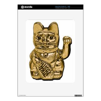 Golden Maneki Neko Decal For The iPad
