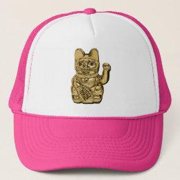 Golden Maneki Neko Trucker Hat