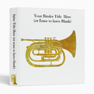 Golden Marching French Horn Binder