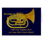 Golden Marching French Horn Greeting Cards
