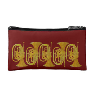 Golden Marching French Horns Makeup Bag