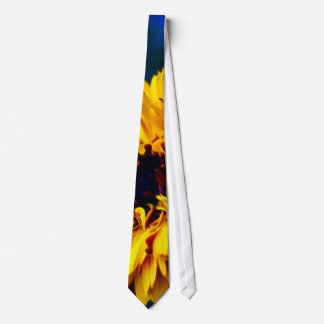 Golden Marigold flower and meaning Neck Tie