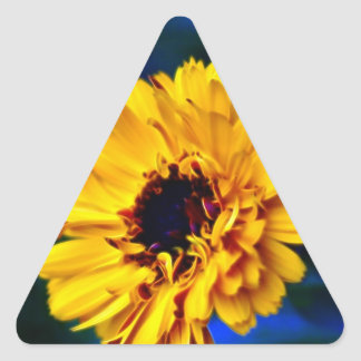 Golden Marigold flower and meaning Triangle Sticker