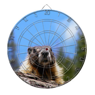 Golden Marmot in Canada Dartboard With Darts