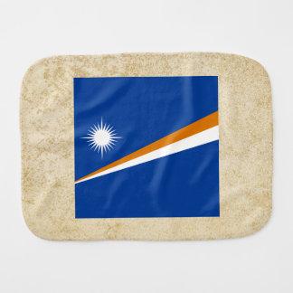 Golden Marshall Islands Flag Baby Burp Cloths