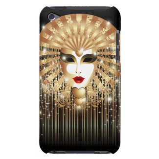 Golden Mask Mardi Gras Carnival iPod Touch Case