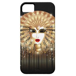 Golden Mask Mardi Gras iPhone 5 Case