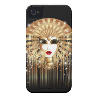 Golden Mask Mardi Gras Party iPhone 4 Case