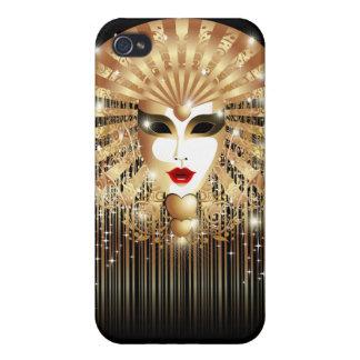 Golden Mask Mardi Gras Party iPhone 4 Matte Case