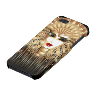 Golden Mask Mardi Gras Party iPhone 5 Glossy Case