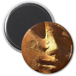Golden Mask of Hathor 2 Inch Round Magnet