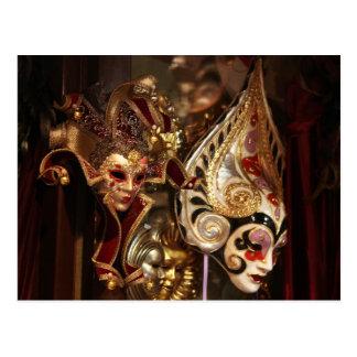 Golden masks postcard