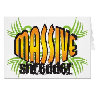 Golden Massive Shredder Card