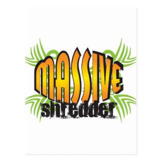 Golden Massive Shredder Postcard