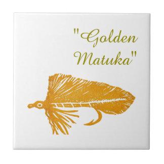 """""""Golden Matuka"""" streamer trout fly tile. Ceramic Tile"""