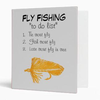 """Golden Matuka-To Do List"" Fly Fishing Journal 3 Ring Binder"