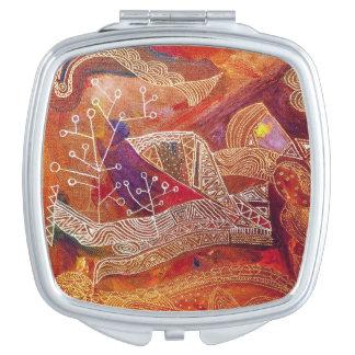 golden maze compact mirror