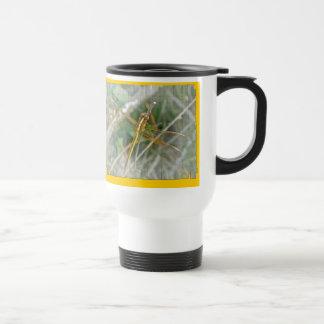 Golden Meadowhawk (Sympetrum) Dragonfly Items Travel Mug