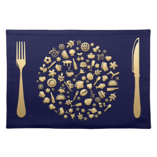 Golden Meal #5 Placemat