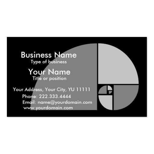Golden ratio business card templates bizcardstudio golden mean business card colourmoves Images