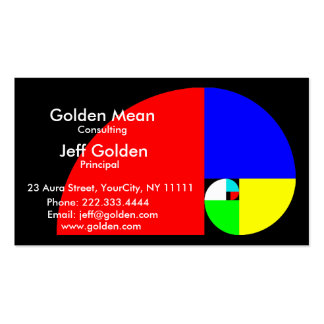 Golden Mean Business Cards
