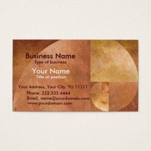 Fibonacci ratio business cards templates zazzle golden mean business card colourmoves Images
