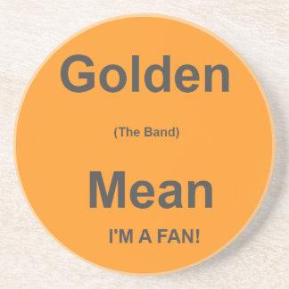 Golden Mean Fan Sandstone Coaster